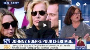 Maître Marie-Christine Cazals nous éclaire sur le conflit autour du testament de Johnny Hallyday, sur BFM TV