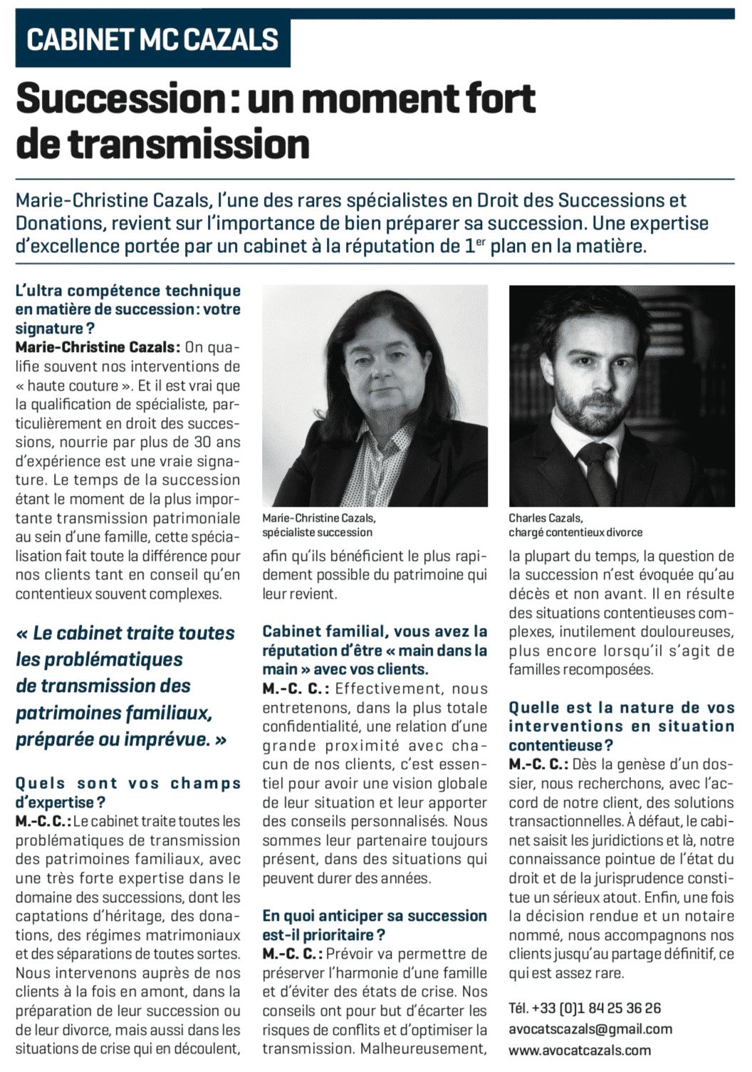 Cahier du Figaro : gestion du patrimoine