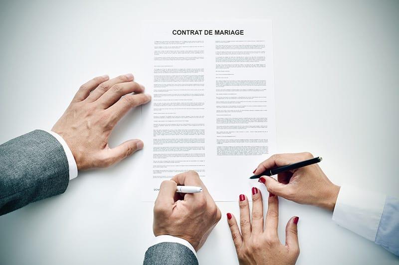 Clause de préciput d'un contrat de mariage