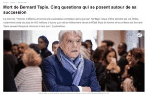 Maître Cazals témoigne dans Ouest-France sur les questions qui se posent autour de la succession de Bernard Tapie