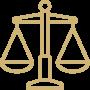 balance de la justice Icône droit du patrimoine